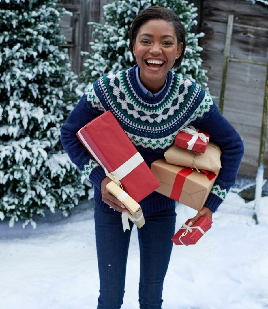 L.L.Bean Classic Ragg Wool Sweater, Fair Isle Crewneck | My Style ...