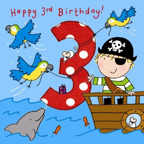 HD Background Age 3 Boys Pirate Birthday Cards For Kids Wallpaper – Birthday Card for Boy