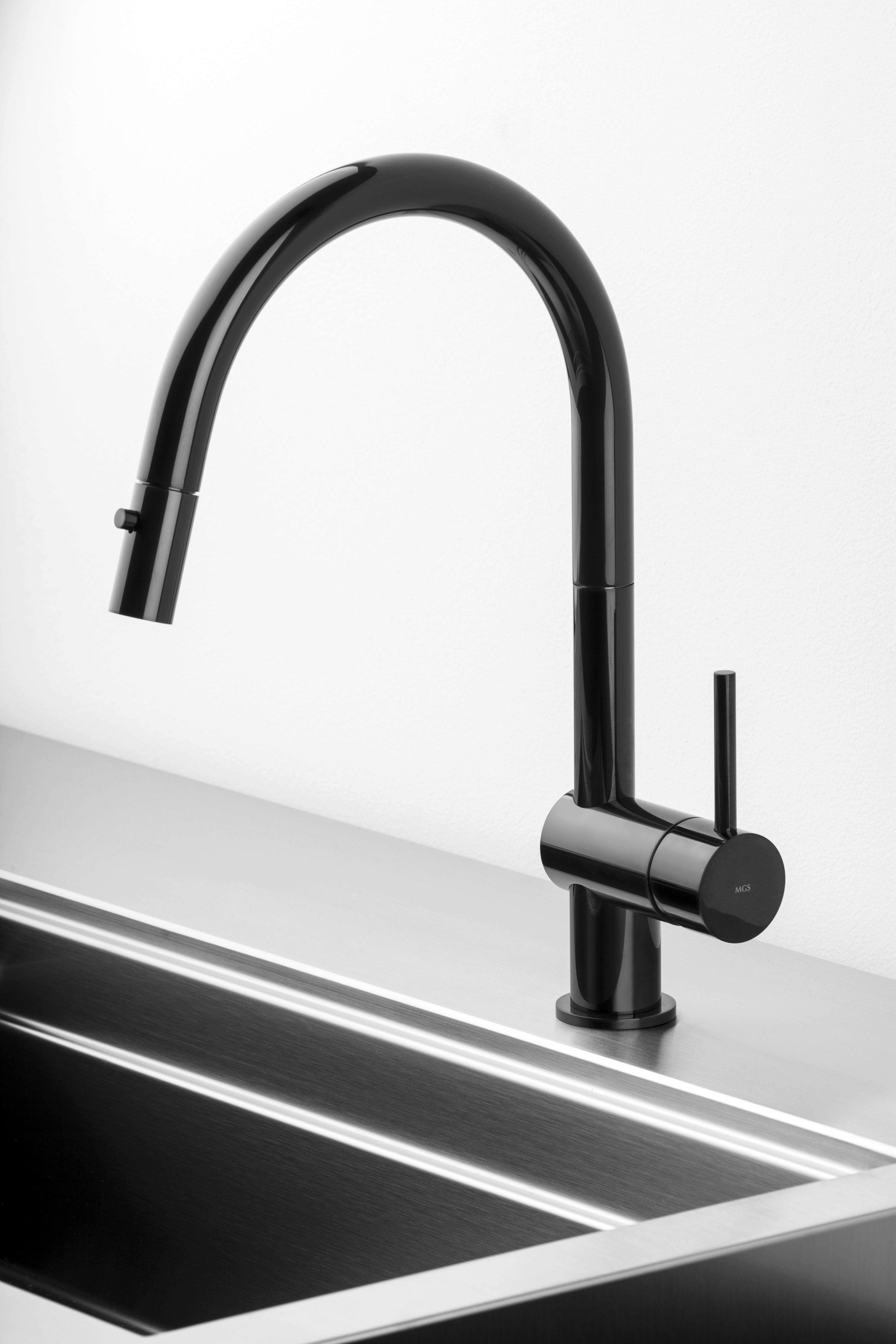 Vela D In Black Onyx Modern Kitchen Faucet Kitchen Faucet Stainless Kitchen Faucet