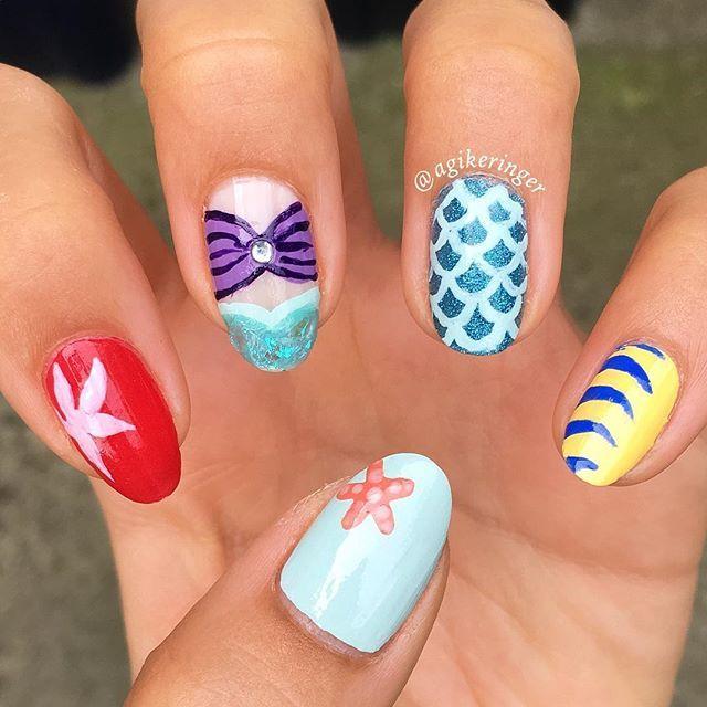 "nail art inspired disney's """