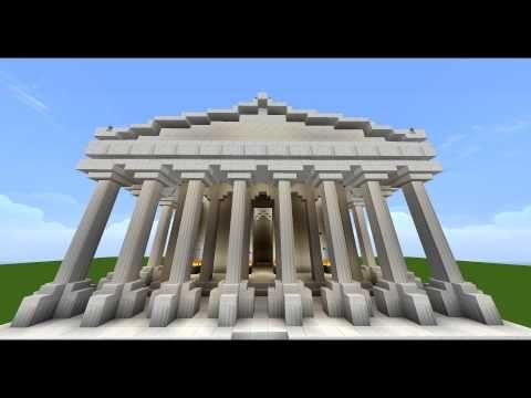 Minecraft Parthenon Build Youtube With Images Parthenon