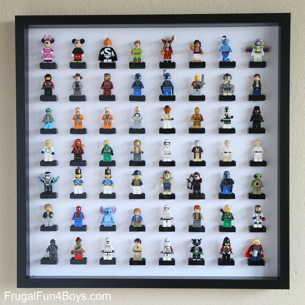 Ikea Frame Lego Minifigure Display And Storage Thinking