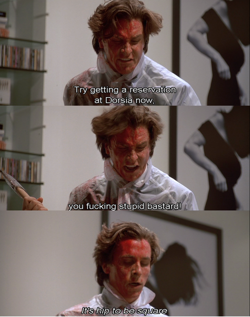 American Psycho Quotes Adorable I Have Picture Of This Scene Signedbale Funnies  Pinterest . Design Inspiration