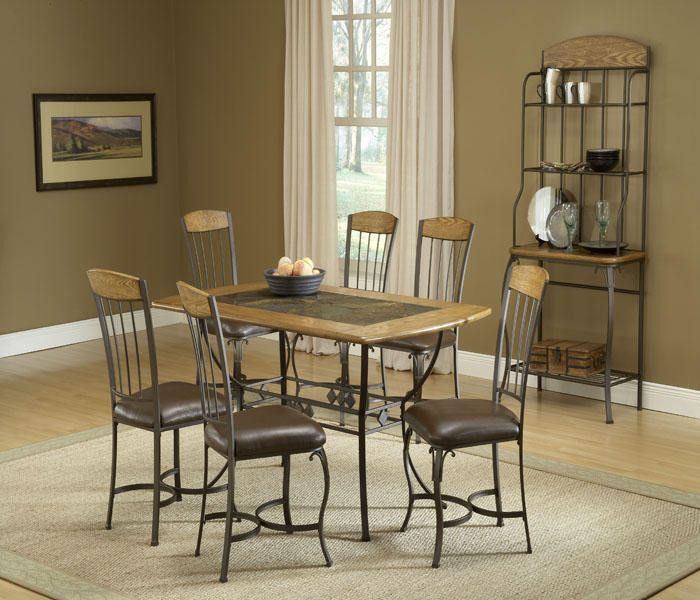 Dining Room Accent Pieces: Hillsdale Lakeview 7 Piece Dining Room Set With Wood