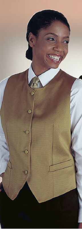 This ladies bistro vest is great for front of the house and those formal occasions. It is priced at half the price of a major competitor! http://www.sharperuniforms.com/bistro-vest-ladies.html