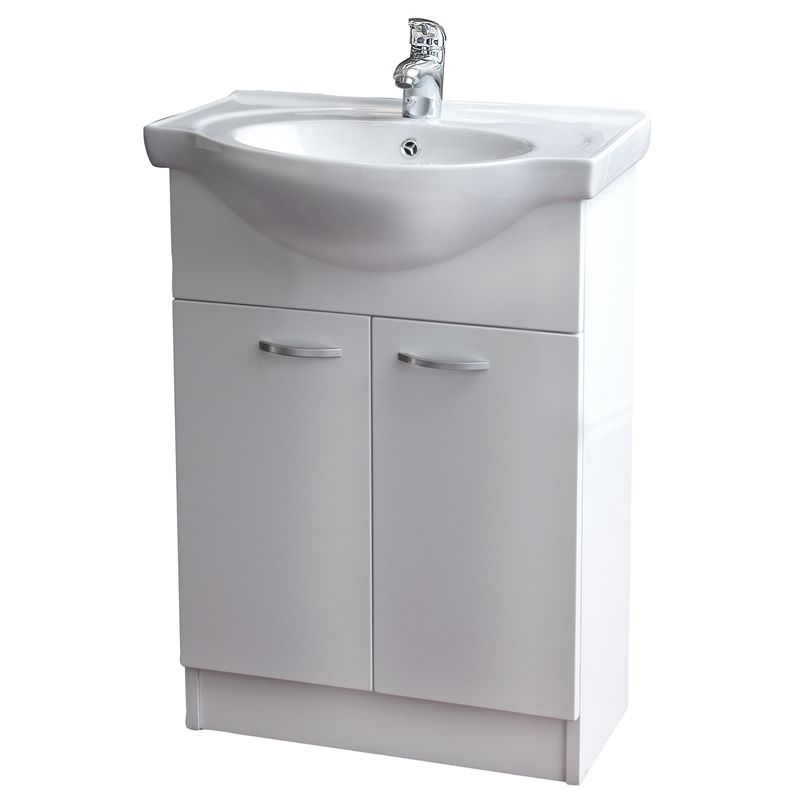 Conciso Naro Vanity Assembled 600mm White Vanity Bathroom Vanity Bathroom