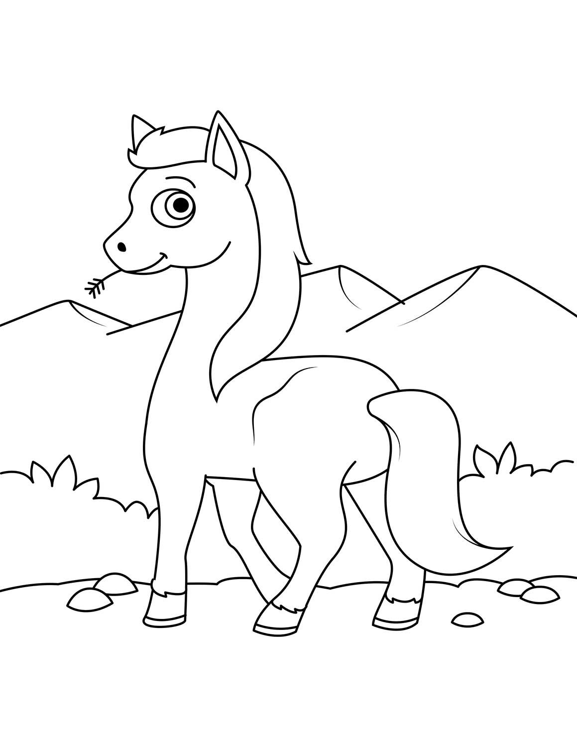 Cute Wild Horse Coloring Page Horse Coloring Pages Horse Coloring Books Animal Coloring Pages