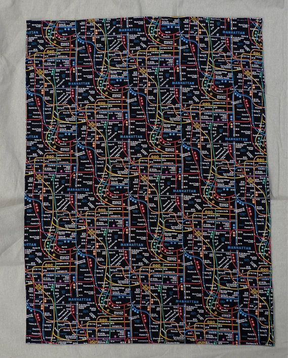 NYC Subway Map in Black, Handmade Baby Blanket/ 20% off Super Sale! from now until 4/12.