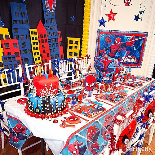 SpiderMan Party Table Idea Spiderman Pinterest Spider man