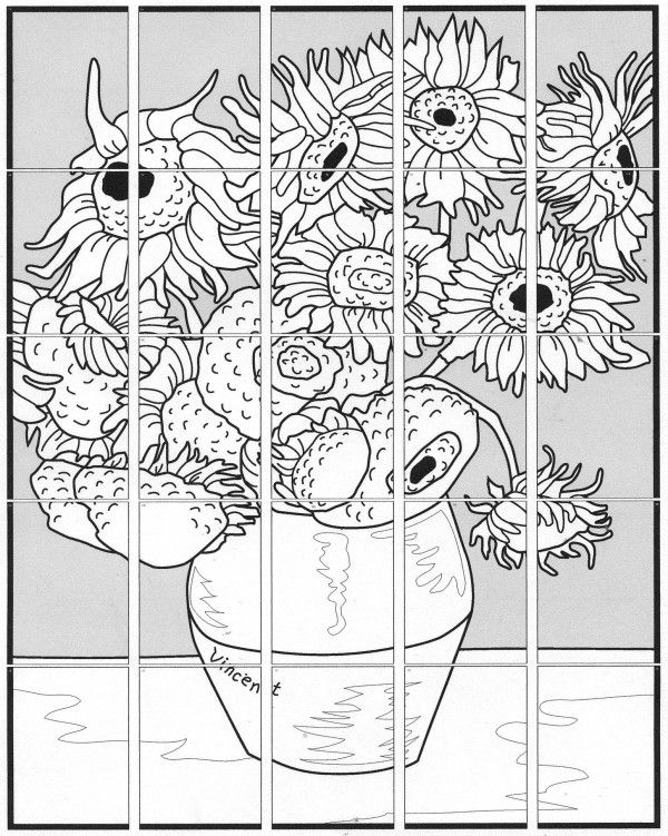 Van Gogh Sunflower Mural | Wall murals, Van gogh and Van gogh sunflowers