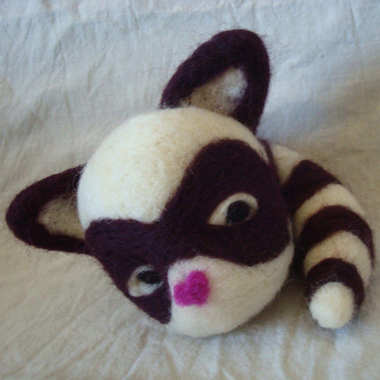 Raccoon Needle Felting Kit. $12.00, via Etsy.