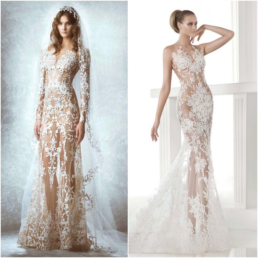 vestidos de novia con transparencias | Novias / Wedding Dresses ...