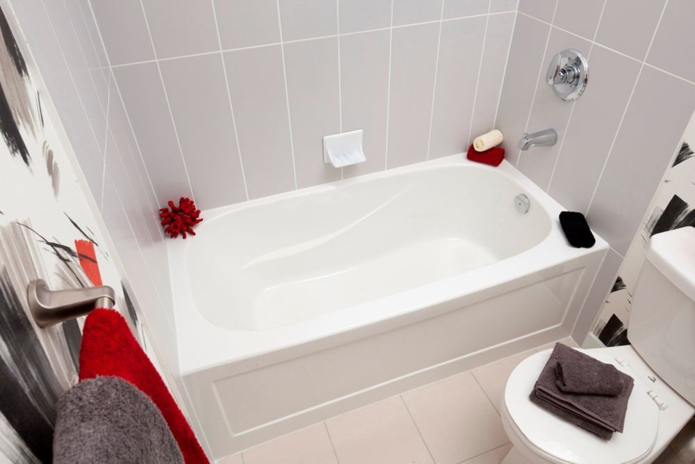 Sydney 5 Ft Acrylic Drop In Non Whirlpool Right Hand Bathtub In White 5ftjettedbathtub Freestanding Jetted Tub