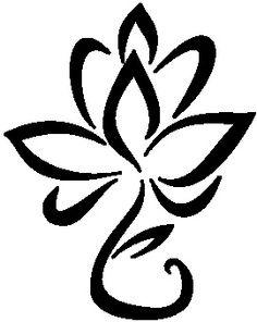 Lotus Flower Outline In Blue Instead Of Black Tattoos Nice Ink