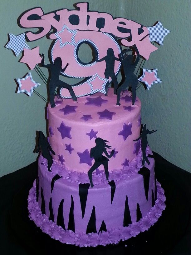 Lets Dance Birthday Cake My Cakes Dance Party Birthday