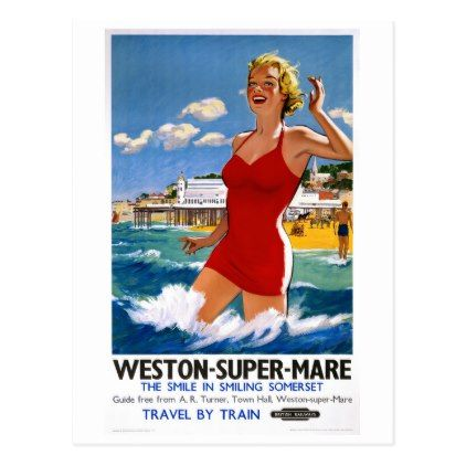England weston super mare vintage travel poster postcard vintage england weston super mare vintage travel poster postcard cyo customize design idea do it solutioingenieria Image collections