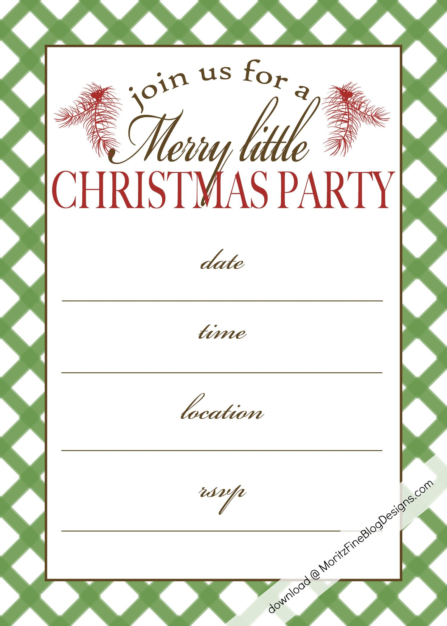 Free Printable Christmas Party Invitation Christmas Print
