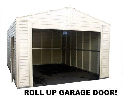 Duramax 13x18 Vinyl Storage Shed Garage Barn Vinyl Storage Sheds Vinyl Storage Duramax Sheds
