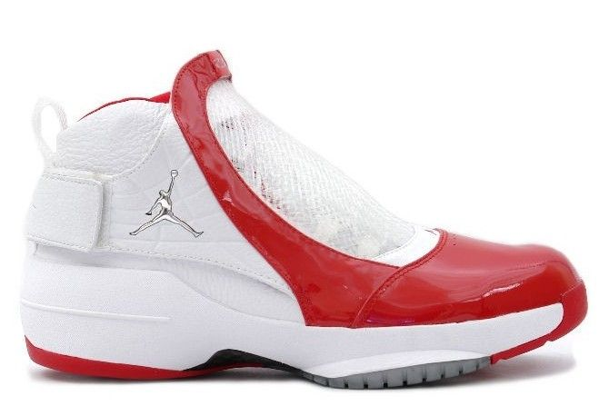 Air Jordan 19 White / Varsity Red