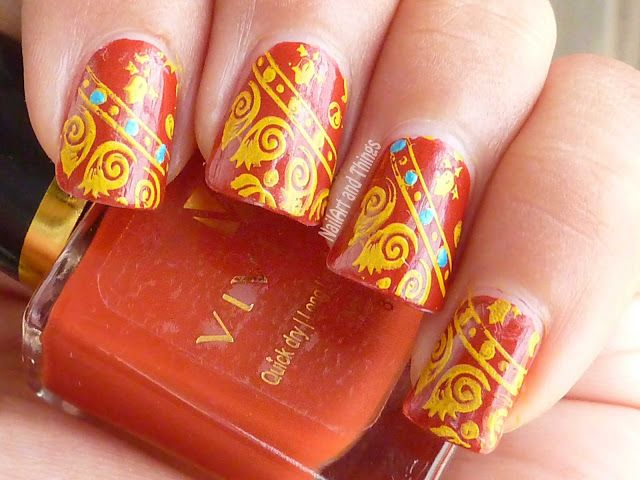Nailart And Things Ethnic Indian Nail Art Viviana Colour Ecstacy