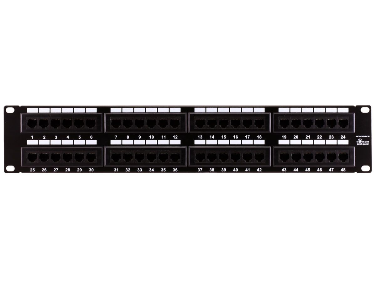 network wiring diagram patch panel details about monoprice 48 port cat6 patch panel  110 type  568a b  monoprice 48 port cat6 patch panel