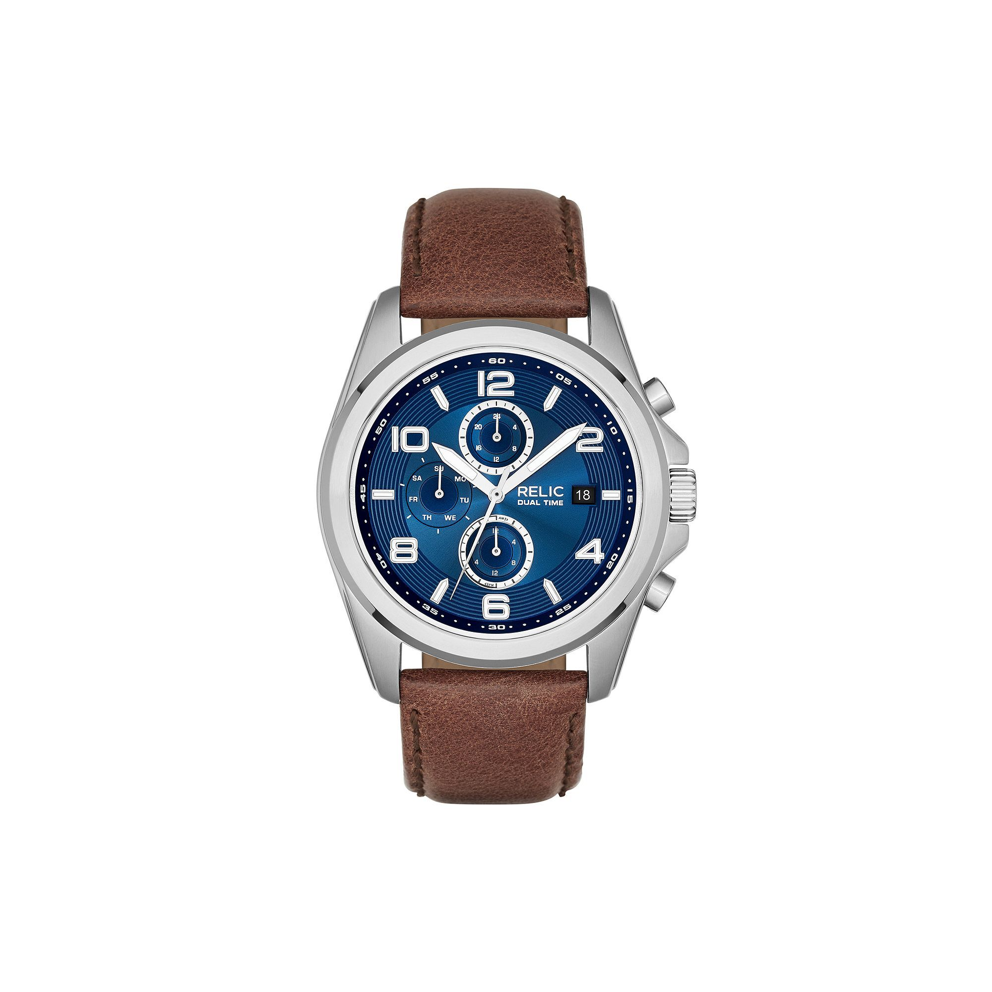 Relic by Fossil Men's Daley Leather Watch in 2020 Brown