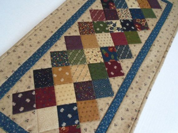 Beau Country Quilted Table Runner Primitive By ForgetMeNotQuilteds