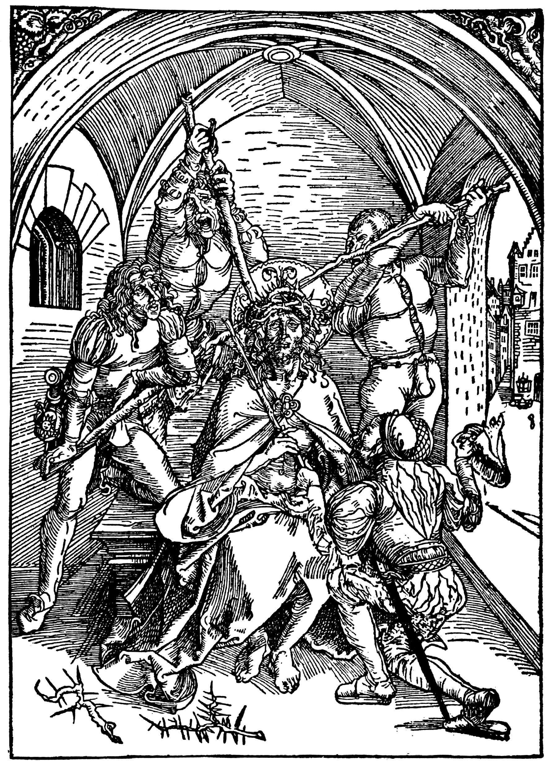 artist durer albrecht title die albertina passion szene dornenkronung christi date ca 1495 1497 kunstwerke holzschnitt kreuzigung jesus felice fey verschwiegene kunst moderne fotografie