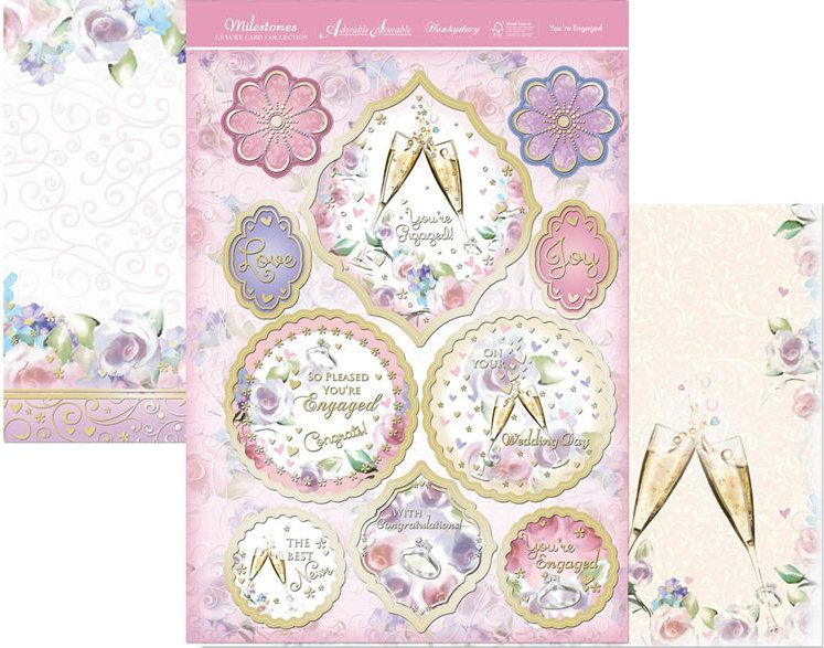 Hunkydory Milestones die cut toppers & card - You Are Engaged