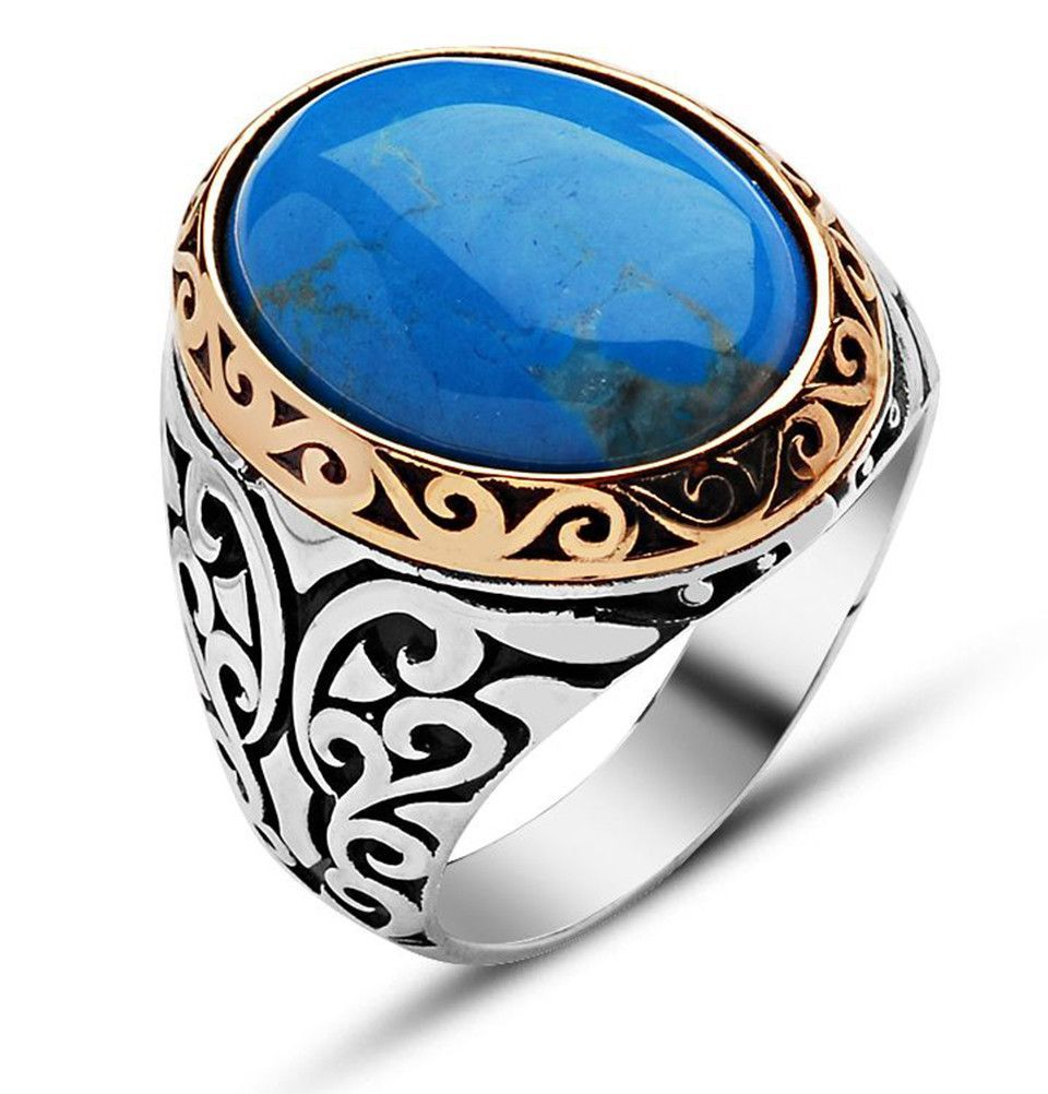 Men\'s Silver Ottoman Ring Turquoise | Ottomans, Turquoise and Ring