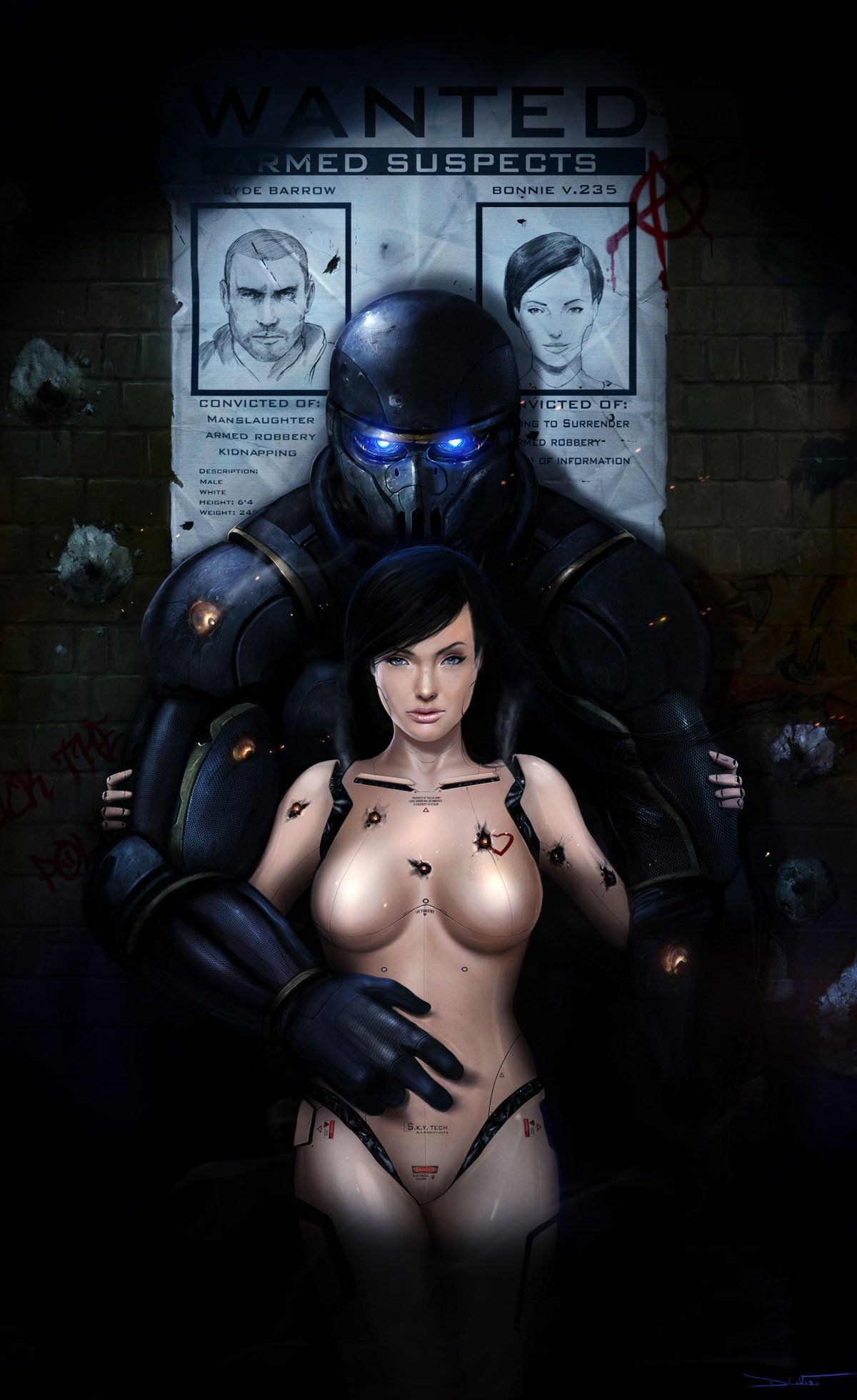 Bonnie And Clyde: 2666 - by DanLuVisiArt on DeviantArt
