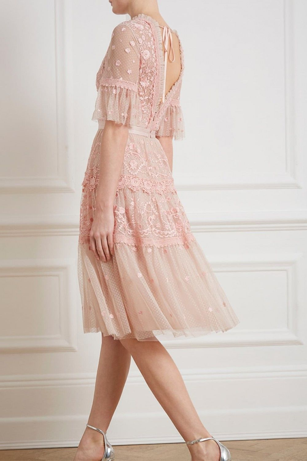 bc0e969f5fca Midsummer Lace Dress in Rose Quartz from Needle & Thread's New Season  Collection.