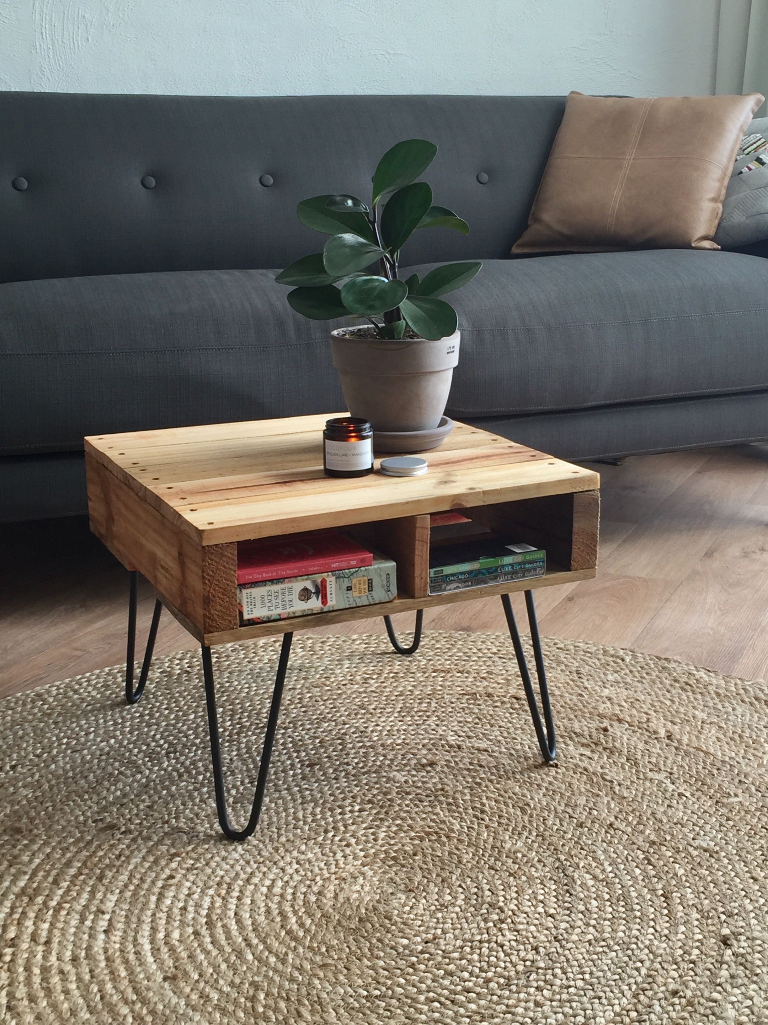 DIY pallet table • Sunshine Coast Hairpin Legs (With