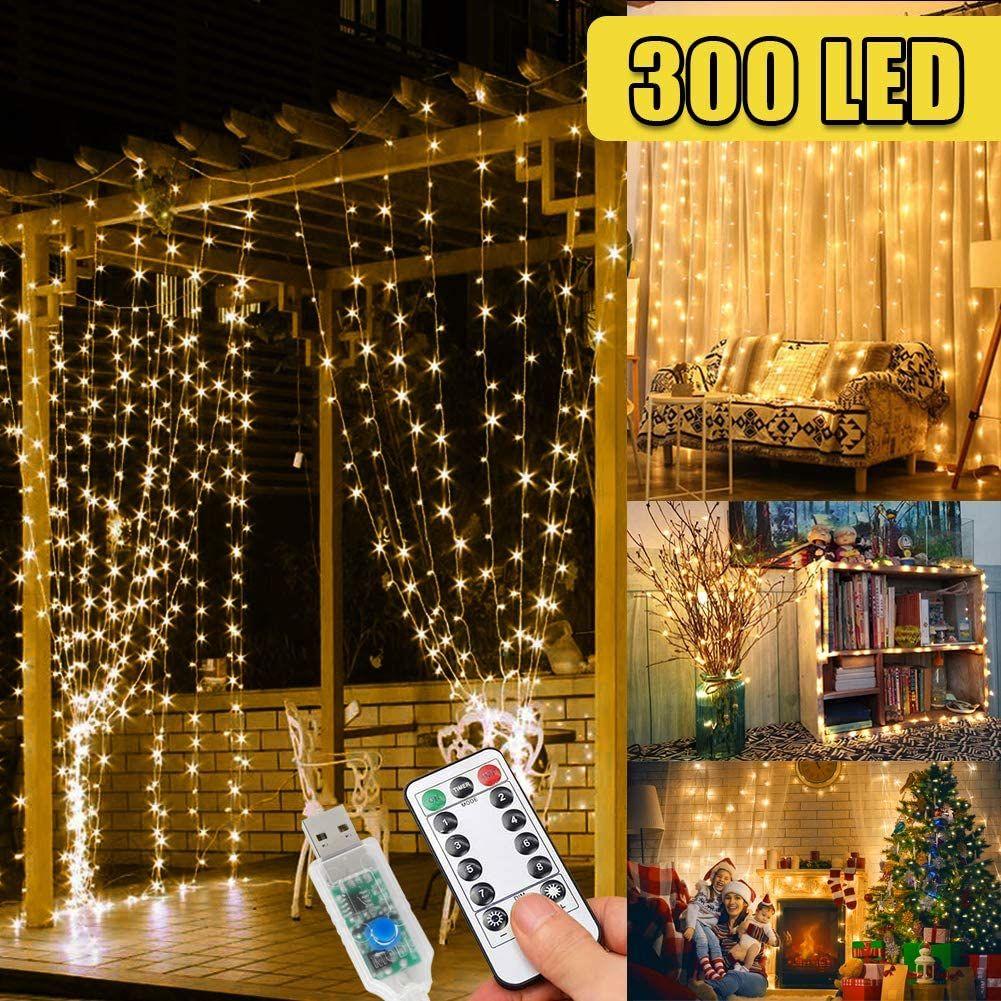 Pin Auf Lichterketten Lichtvorhange Weihnachten Outdoor