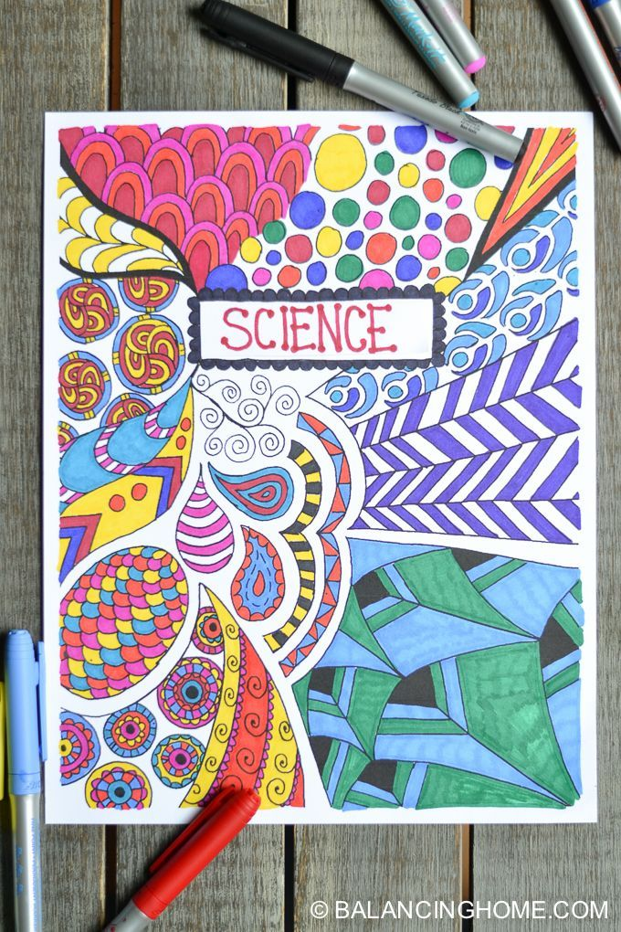 Craft Book Cover Page : Coloring page binder cover printable activities