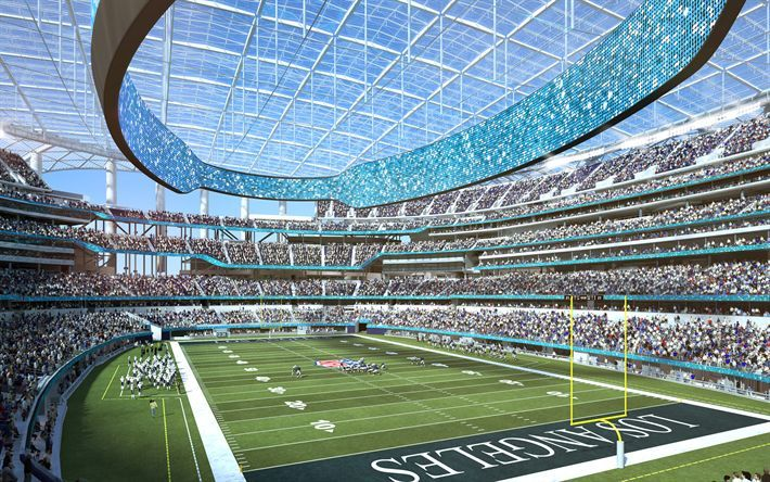 Download Wallpapers Rams Stadium 4k Nfl La Rams Los Angeles Stadium Los Angeles Rams Usa America Hollywoo Nfl Stadiums Sports Stadium Football Stadiums