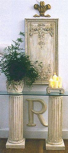 Clic Fluted Column Console Base 31h Home Decor Pedestal