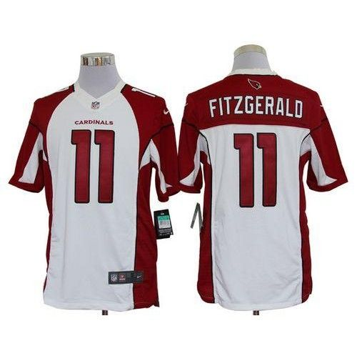 Nike Arizona Cardinals  11 Larry Fitzgerald White Men s Stitched NFL  Limited Jersey b46729b85