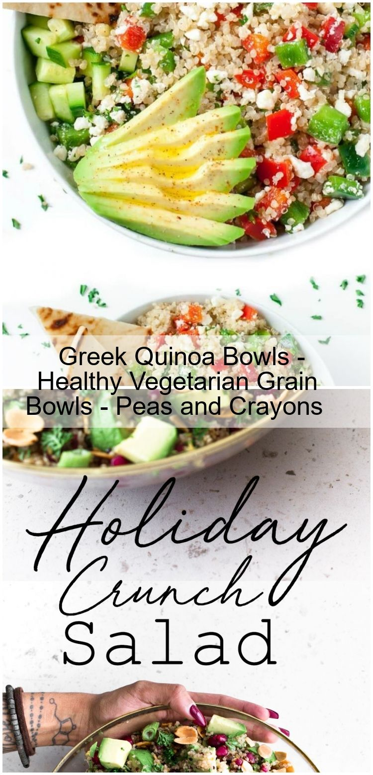 Greek Quinoa Bowls - Healthy Vegetarian Grain Bowls - Peas and Crayons Greek Quinoa Bowls - Healthy