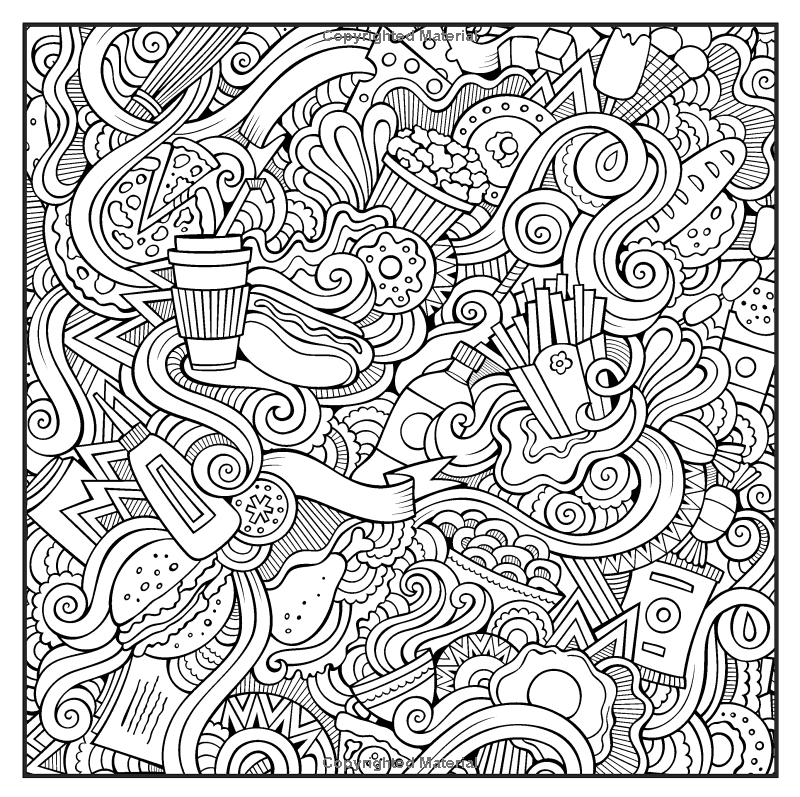 Patterns Shapes & Designs Adult Coloring Book With Bonus Relaxation ...