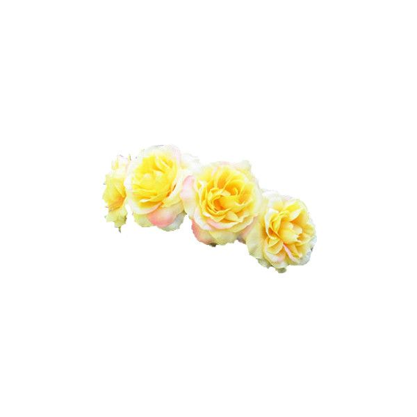 Transparent Flower Crowns Liked On Polyvore Featuring Accessories Hair Accessories Flower Crowns Transparent Flowers Flower Crown Flower Hair Accessories
