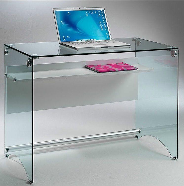 Scrivania Porta Pc In Vetro Temperato.Scrivania Porta Pc Scrivania In Vetro Temperato Desk02 Scrivanie