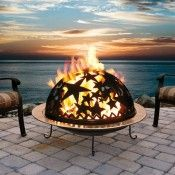 deer fire pit | Up North Custom Fire Pit: Round Sphere Fireball 7010011-37D