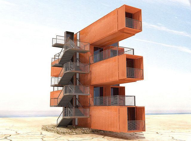 Proyecto containers tocopilla maison en container for Immeuble en container
