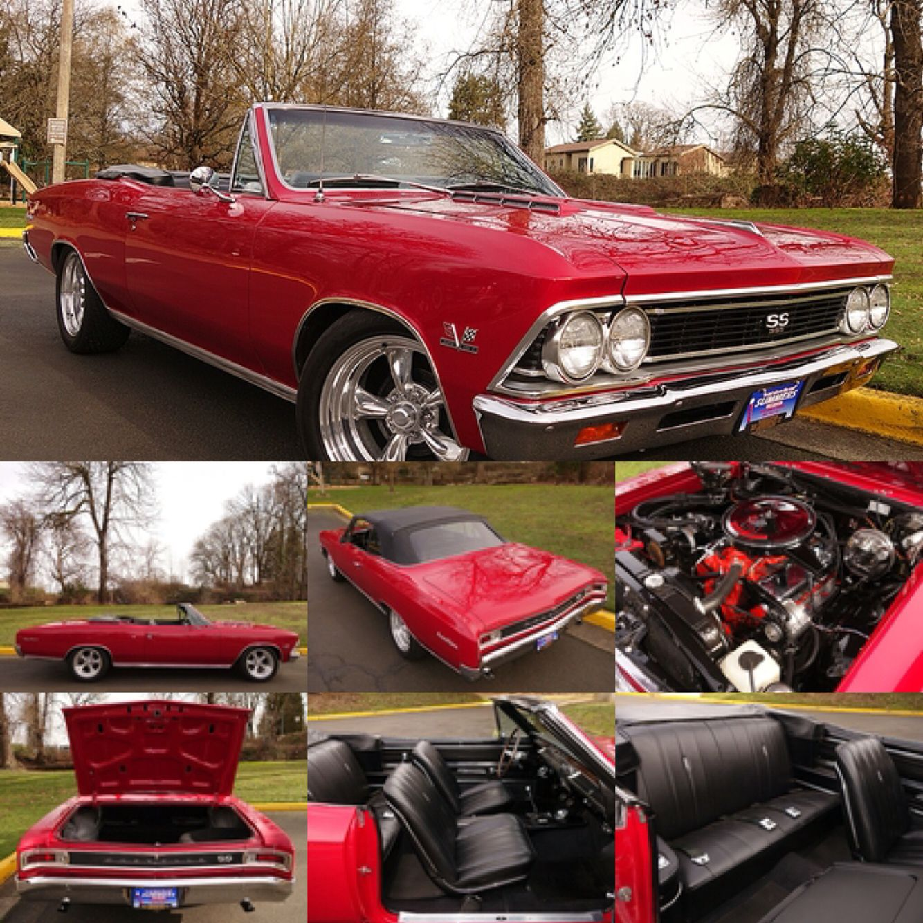 Beautiful 1966 Chevrolet Chevelle Ss Convertible Frame Off Restored Chevy Impala With Great Attention To Detail Throughout