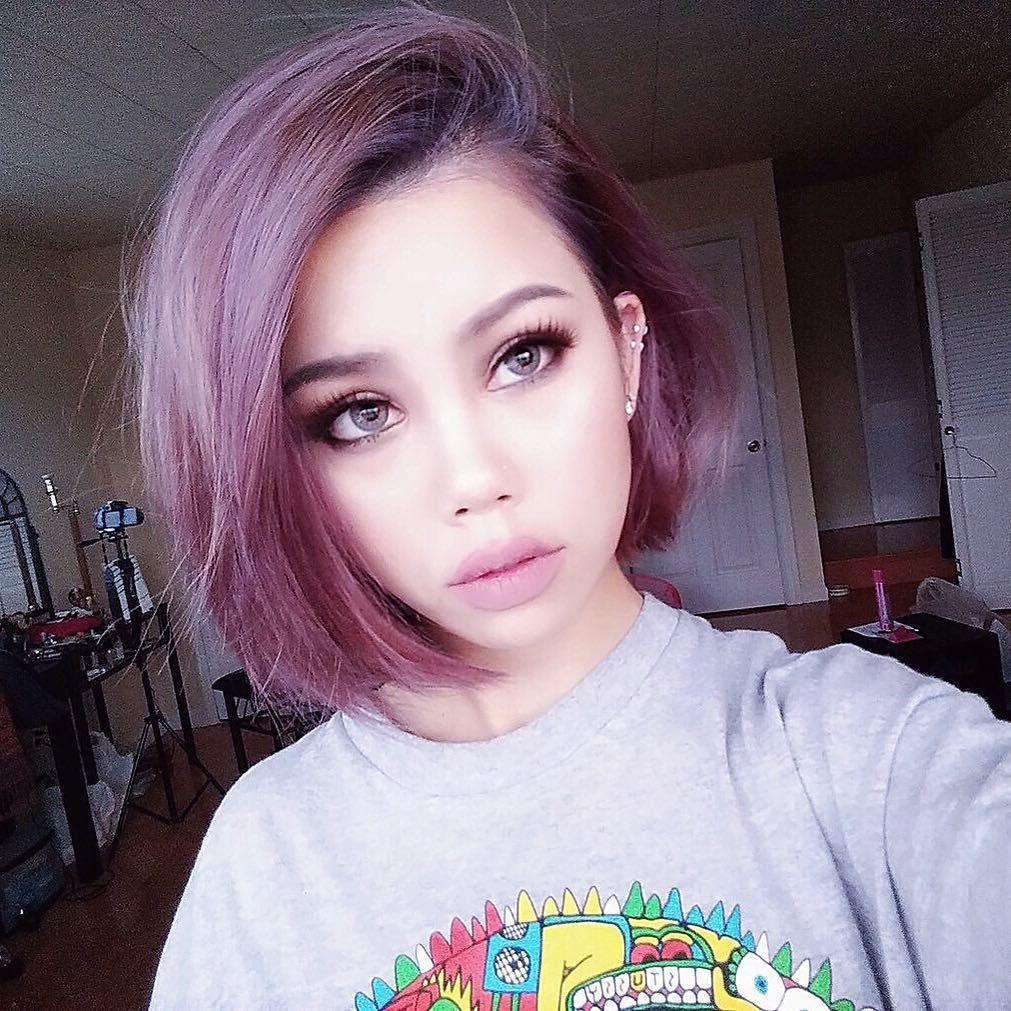 purple balayage hairstyles for soft yet energetic look hair