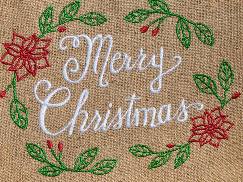 Merry Christmas Garden Flag, Burlap Christmas Garden Flag, 12 x 18 ...