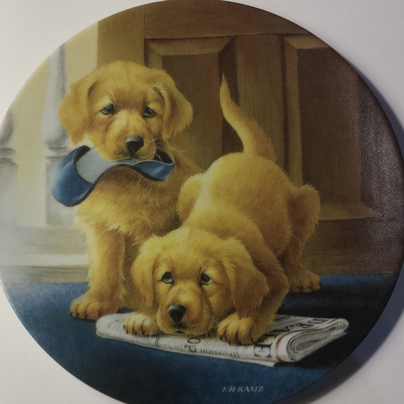 Retrieving Our Dignity L Kaatz 2 Dogs Collector Plate Ebay