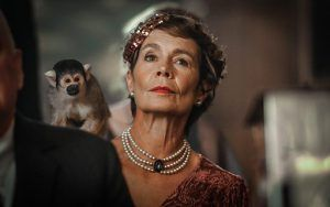 Slightly eccentric Lady Daphne Goodwin (Celia Imrie) who takes a shine to squirrel monkey Mortimer (whom she refers to as Percy).