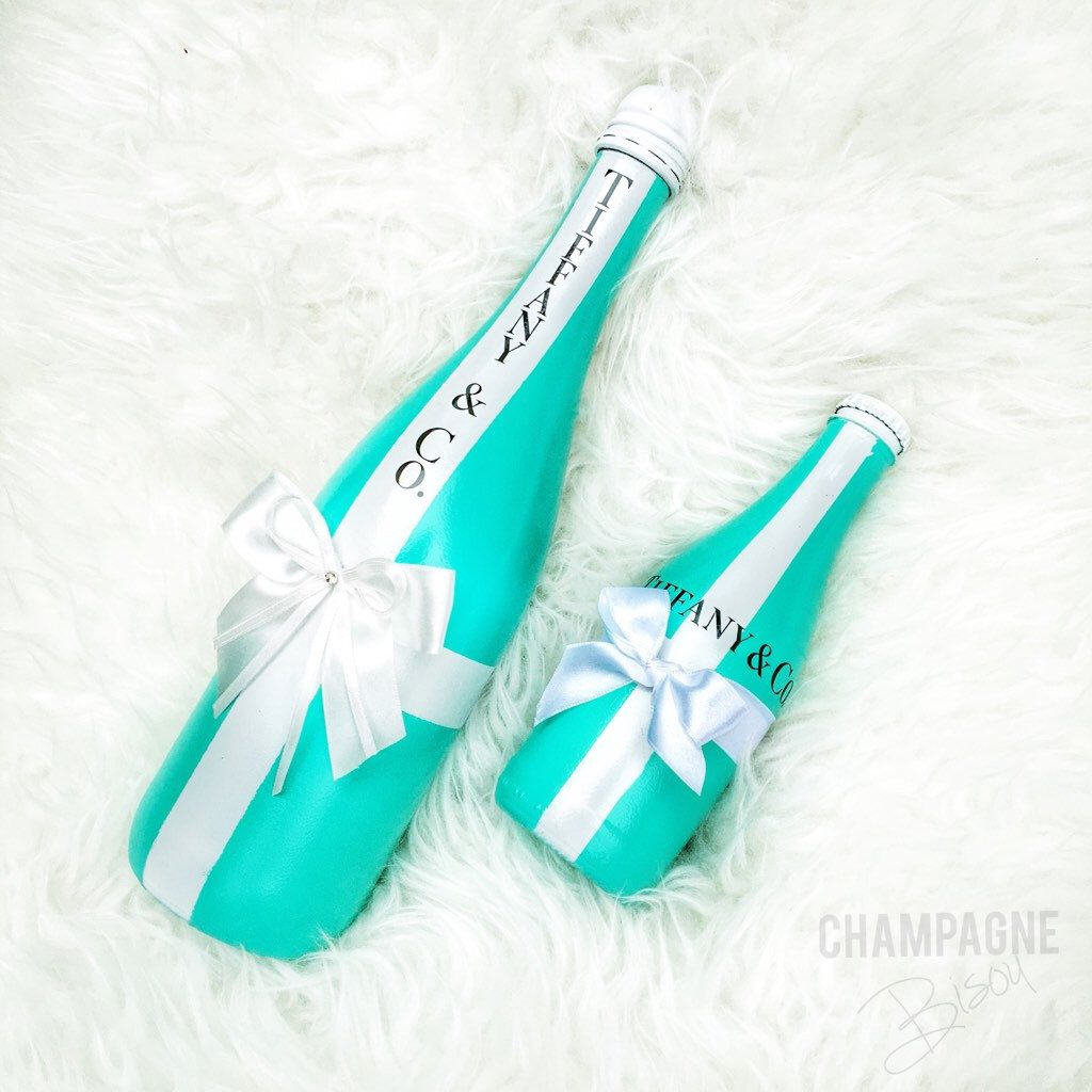 Tiffany & Co. Themed Champagne and Ginger Ale Glam Bottle - Mommy ...